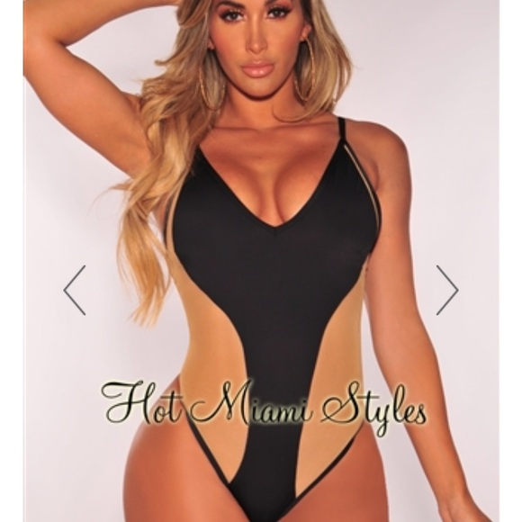 050367c8793c8 Black and Nude Mesh bathing suit
